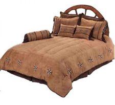 SOUTHWESTERN STAR 7 PC TWIN Comforter Set RUSTIC LODGE BEDDING  BROWN & TAN
