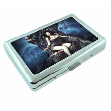 Hot Anime Witches D15 Silver Metal Cigarette Case RFID Protection Wallet
