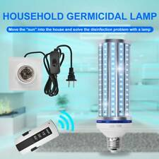 LED UV Germicidal Lamp E26/E27 Remote Control Timer Sterilizing Light Bulb 70W