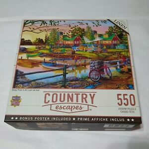 MASTERPIECES COUNTRY ESCAPES - AWAY FROM IT ALL 550 PIECE JIGSAW PUZZLE - NEW
