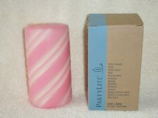 Partylite 3 x 5 Peppermint Snow Grooved Pillar - Retired
