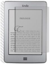 Skinomi Carbon Fiber Silver Skin+Screen Protector for Amazon Kindle Touch 3G