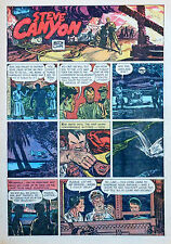Steve Canyon by Milton Caniff - full tab color Sunday comic page - Oct. 31, 1948
