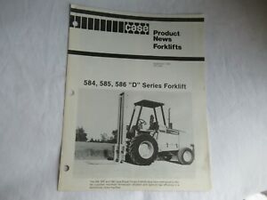 Case 584 585 586 D series forklift product news brochure