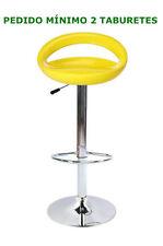Taburete ABS nuevo, amarillo , altura 104, base cromada, lápices de, regulable