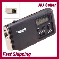 Korjo Travel Accessories - Alarm Clock with Torch -Black/White -Slim Loud Snooze