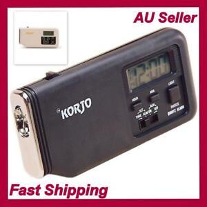NEW Korjo Travel Alarm Clock with Torch Small Digital Electronic Portable Clocks