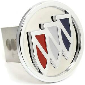 """Buick Chrome Trailer 2"""" Hitch Plug Cover Cap Stainless Steel"""