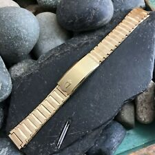 rare Bulova Accutron 16mm Gold HGE nos Old-Stock JB Champion Vintage Watch Band