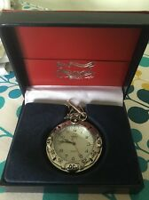 America Sports Silver Coloured Open Face Quartz Pocket Watch / Necklace