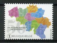 Belgium 2019 MNH Postal Codes 50 Years 1v Set Maps Postal Services Stamps