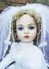 Antique Reproduction Bru Jne 13 Porcelain Victorian Bride Doll Patricia Loveless