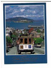 Postcard: Cable Car on Hyde Street, San Francisco Bay,  California, USA