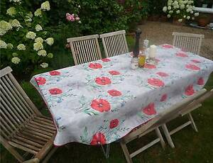 Tablecloth Provence 150x240 CM Oval Light Grey France Easy-Care Iron Free