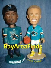San Jose Sharks Marshawn Lynch & GS Warriors Stephen Curry bobblehead SGA Bobble