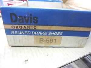 Rear Drum Brake Shoes B-591 Fits 1987-1994 Subaru BP207