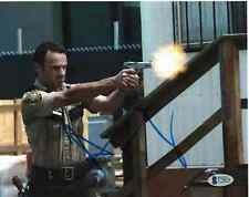 ANDREW LINCOLN SIGNED 8X10 PHOTO WALKING DEAD BECKETT BAS AUTOGRAPH AUTO COA E