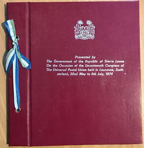 Sierra Leone: Ministerbuch zum 17. UPU-Kongress in Lausanne, 1974