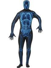X-RAY COSTUME,XRAY SECOND SKIN FULL LYCRA BODY SUIT,HALLOWEEN FANCY DRESS,46-48""