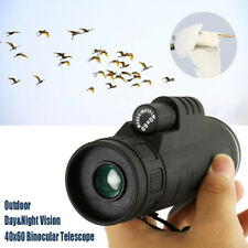 40x60 Monocular Telescope Day & Night Vision Zoom Optical Mini Hunting Camping