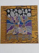 Dot art painting.  Australian Artist inspired by Aboriginal art.