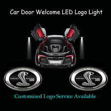 2x Car Door Projector Ghost Shadow LED Logo Light for New  Shelby GT500