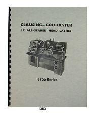 "Clausing Colchester 6500 Series 15"" Lathes thru sn 42421 #1363"