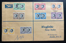 1937 South West Africa First Day Oversized cover Coronation king George VI Block