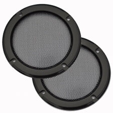 """2pcs 4"""" inch Audio Speaker Cover Decorative Circle Metal Mesh Grille Protection"""