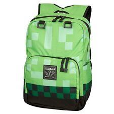 Minecraft Creeper Kids Backpack Green School Camping Bookbag Lunch Travel New