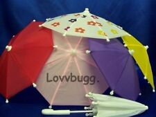 White Umbrella for 18 inch American Girl or Wellie Doll Raincoat Accessory LOVV