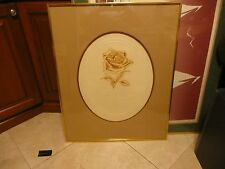 """VTG L Lufald Embossed Lithograph  """"The Rose""""  15/300"""