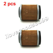 2x Oil Filters For Yamaha Motor YZ TTR 250 YFM 350 WR426F WT400F Dirt Motor Bike