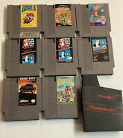 NES Nintendo Entertainment System 8 Video Game LOT TMNT Mario Little Mermaid ETC