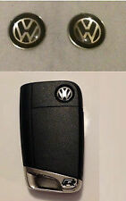 4 x VW Voiture Clé Fob Remote Badge 11 mm Gel Noir Golf Passat Scirocco Polo Mk6 Mk7
