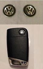 4 x VW Car Key Fob Remote Badge 11mm BLACK Gel Golf Passat Scirocco Polo Mk6 Mk7