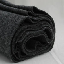 100% Wool Felt Fabric - 1mm Thick - Made in Europe - Dark Grey - 1/2m x 1.8m