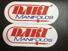 "2 Pcs 9""x 3.75 DART MANIFOLDS NASCAR NHRA RACING STICKERS"
