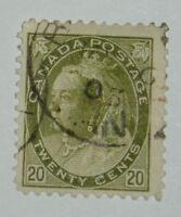 DC: Canada Scott #84 used, 2009 Scott Value = $100