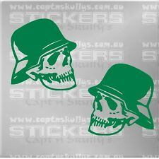 ARMY SKULL DECAL 100mmx110mm each decal 15 colours to choose MPN 247d