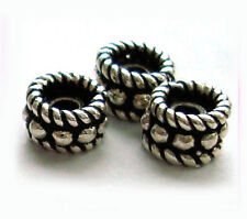 20pcs BALI 925 Sterling SILVER SPACERS Beads round roundel oxidized 5mm S74