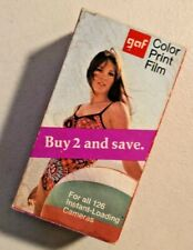 GAF Camera Film 126 12 Exposure Color Print Film Sealed Expired 1973 Vintage NOS