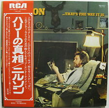 HARRY NILSSON That's The Way It Is 1976 JAPAN White Label Promo LP Voorman MINTY