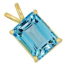 Women's 5.0 ct Natural Topaz Solitaire Gemstone Pendant 14k Solid Yellow Gold
