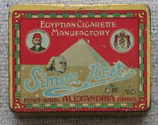OLD slim pocket Cigarette tin Simon Arzt Alexandria Egypt pretty images #140