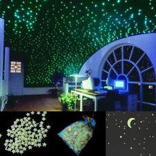 200pcs 3D Glow in the Dark  Sterne Leuchtsterne Leuchtsticker Sternenhimmel Wand