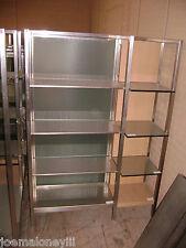 Large Retail Glass Amp Metal Shelving Modern Retail Display Stand