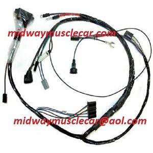 engine wiring harness V8 65 Pontiac GTO LeMans Tempest manual trans & A/C