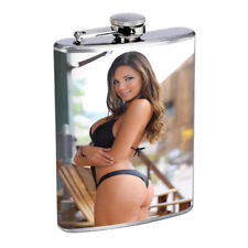 Rock & Roll Pin Up Girls D9 Flask 8oz Stainless Steel Hip Drinking Whiskey
