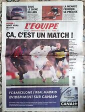 L'Equipe Journal 23/04/2002; Barça-Real/ FC Barcelone-Real Madrid/ Ferrero